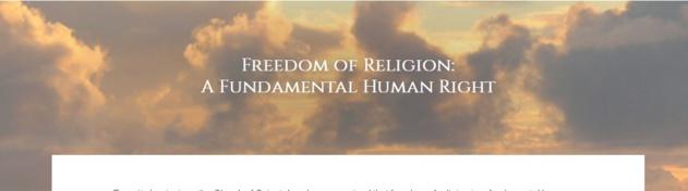 Liberté de religion : la Scientologie dans la société