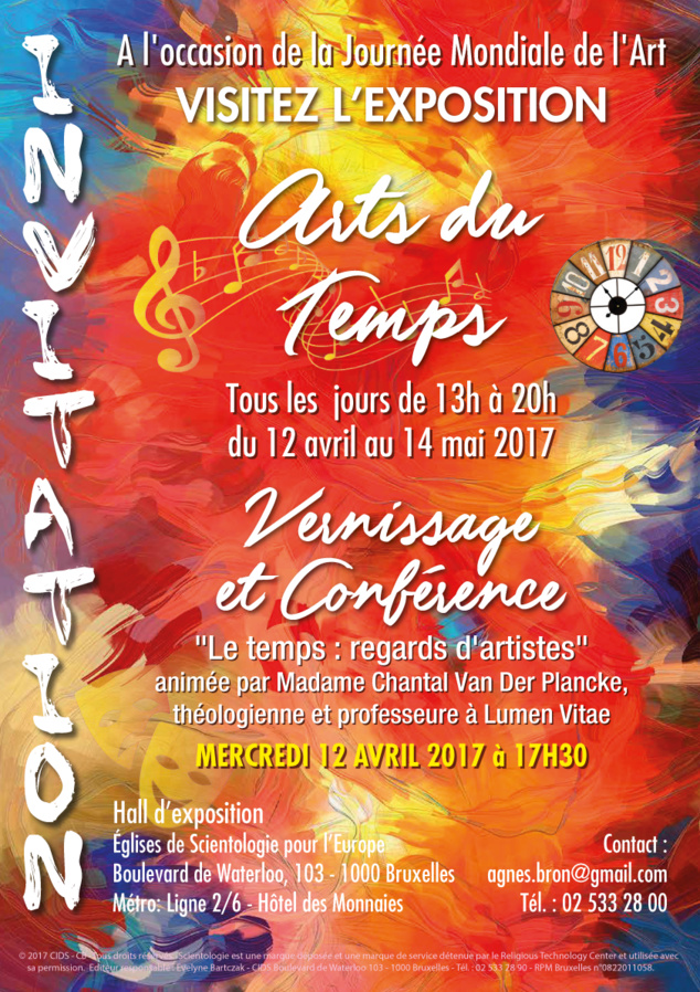 Invitation exposition Art du temps