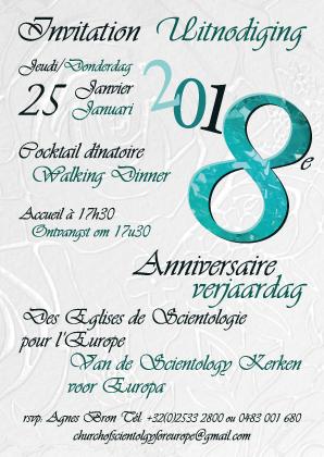8e anniversaire des Eglises de Scientologie pour l'Europe