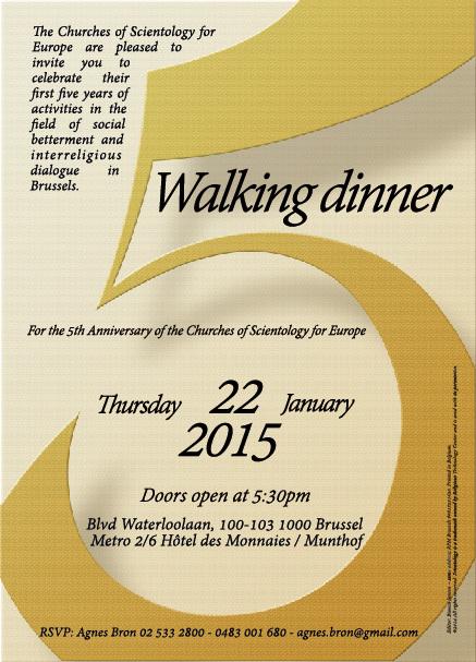 5ème anniversaire des Eglises de Scientologie pour l'Europe