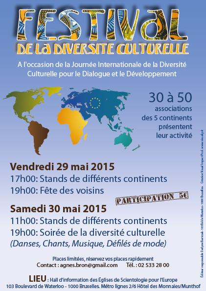 Inscription pour les stands du Festival de la diversité culturelle 2015