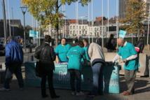 « Dites non à la drogue » au pied de la tour du Midi