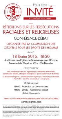 """Conférence """"Réflexions sur les persécutions raciales et religieuses"""