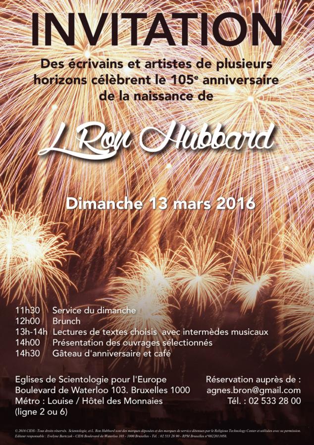 105e anniversaire de la naissance de L. Ron Hubbard