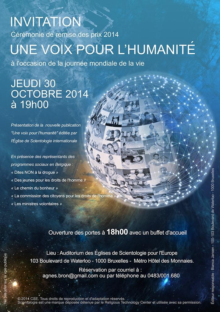 Invitation à l'occasion de la journée mondiale de la vie