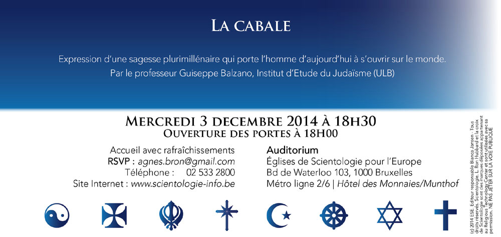 Rencontre interreligieuse mercredi 3 décembre 2014 à 19h00