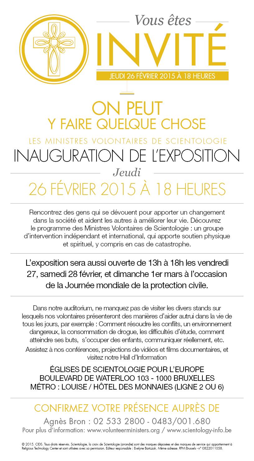 """Inauguration de l' Exposition des Minsitres Volontaires de Scientologie """"On peut y faire quelque chose"""""""