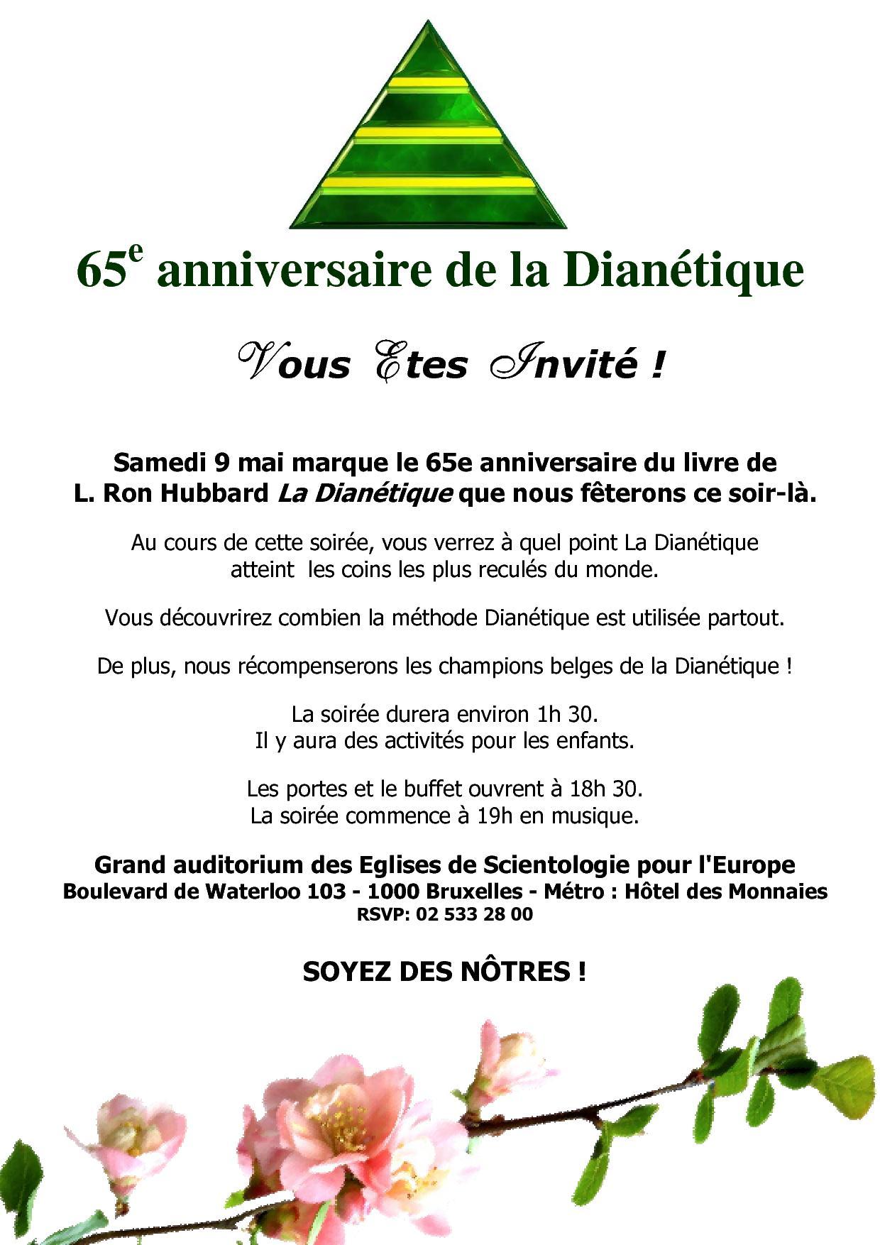 65ème anniversaire de la Dianétique