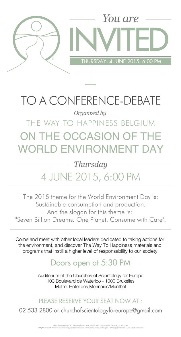 Conférence-débat journée mondiale de l'environnement 4 juin 2015
