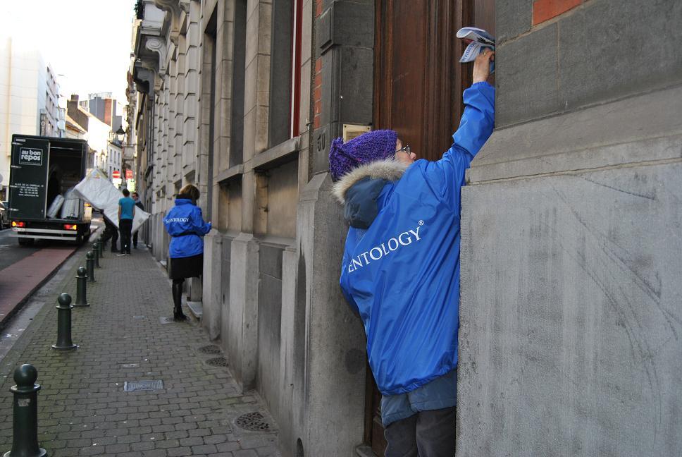 Du bleu dans les rues de Bruxelles