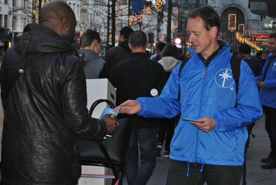 Les vestes bleues à Anvers