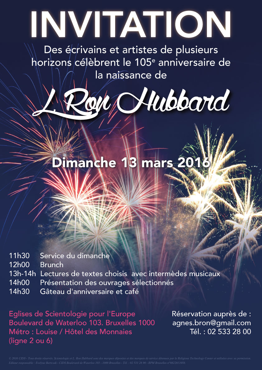 Des écrivains et des artistes de plusieurs horizons célèbrent le 105e anniversaire de la naissance de L. Ron Hubbard