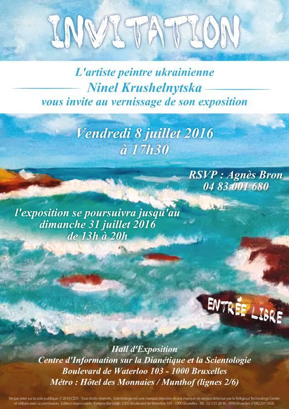 L'artiste peintre Ukrainienne Ninel Krushelnytska vous invite au vernissage de son exposition